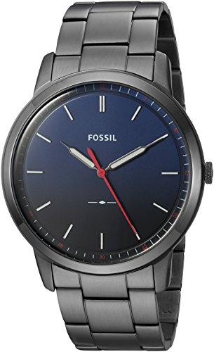 10 Cheap Men's Watches That Look Expensive In 2019 - Fossil Round Ionic Plate Blue Watch