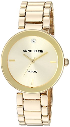 Top 13 Cheap Women's Watches That Look Expensive - Anne Klein Women's Genuine Diamond Dial Bracelet Watch