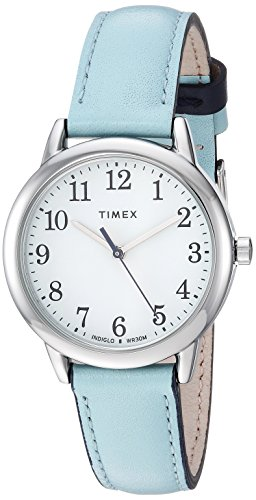 Top 13 Cheap Women's Watches That Look Expensive - Timex Women's Easy Reader Leather Strap 30mm Watch