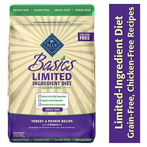 20 Best Dog Food for Sensitive Stomach and Diarrhea in 2019 - Blue Buffalo Basics- Dry Grain-Free Dog's Diet